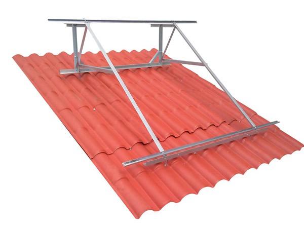 Estructura para el compacto de energía solar térmica por termosifón de 200 litros