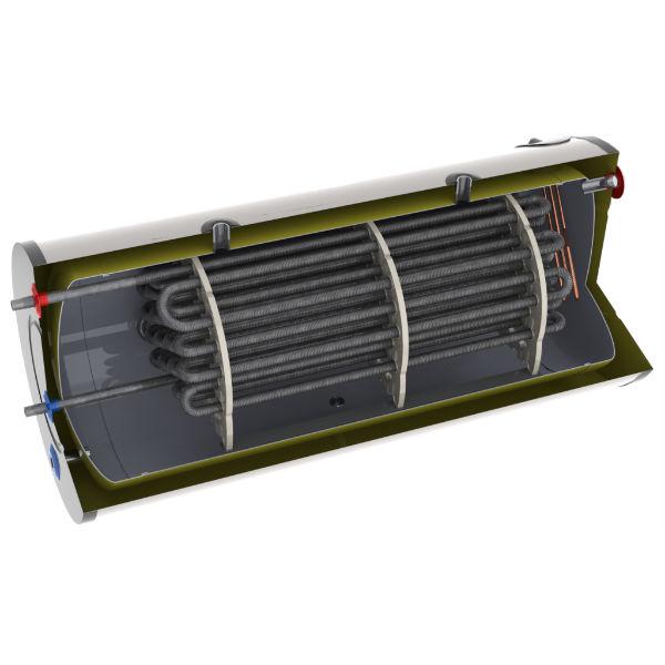 acumulador de 200 litros para calentar agua con energía solar