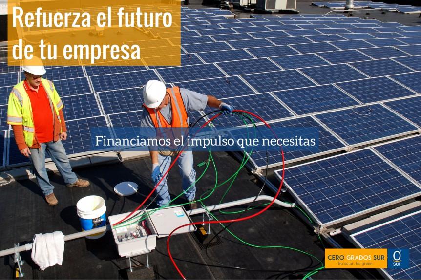 Refuerza el futuro de tu empresa con energía gratis financiada
